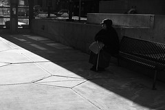 DEN-010908-1 (Armando Martinez) Tags: shadow urban bw dark bench 22 waiting colorado downtown sitting smoke sigma denver steam blake 2008 ls lodo dsp 17thstreet sigma30mm