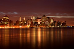 (pmarella) Tags: city nyc newyorkcity sky urban newyork color nature water skyline night clouds reflections river landscape lights manhattan whatever viewlarge pmarella hudsonriver insomnia ef2470mmf28lusm donttrythisathome eos5d throughmyglasseye riverviewpkproductions wanderingatnight