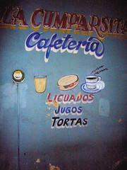 Licuados, jugos o tortas! (Tricia Wang 王圣捷) Tags: city wall painting mexico oaxaca jugos tortas licuados
