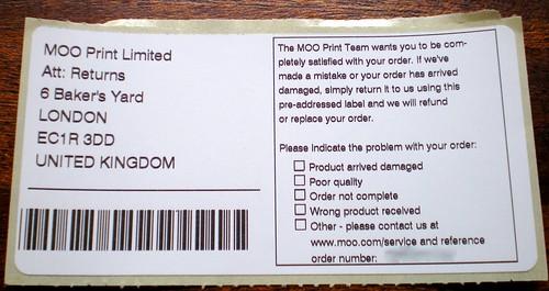 Dirección de envío en caso de queja