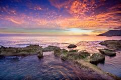 fuego en el mar (natalia martinez) Tags: blue sunset sea sky atardecer mar rocks cielo rocas calpe ostrellina ♥avision♥