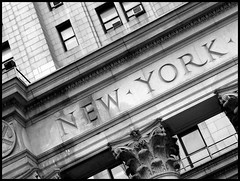 New York (Natasja ) Tags: city nyc blackandwhite bw white ny newyork black detail building zwart wit