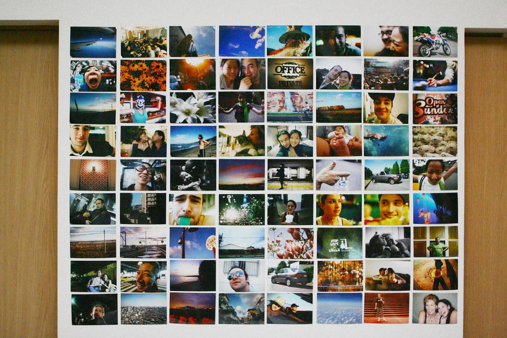 wall of photos