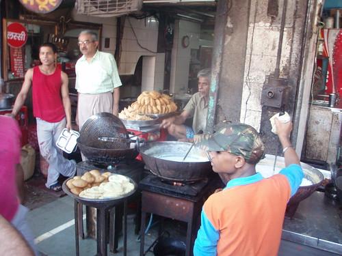 Puestos callejeros en Nueva Delhi