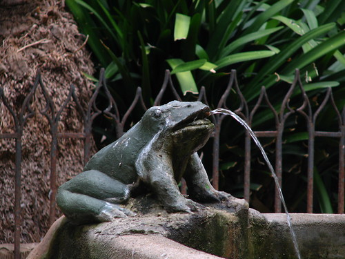 frog fountain ornament, Barcelona Cathedral