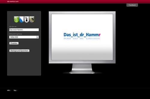 Backgroundr: Das ist dr Hammr