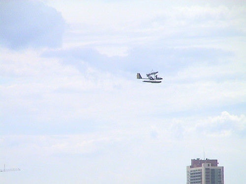Home Built Airplane Over Downtown Miami