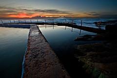 South Curl Curl Rockpool (Xenedis) Tags: curlcurl curlcurlbeach beach water rockpool rocks ocean waves dawn sunrise sky clouds bluehour seascape newsouthwales nsw australia twilight
