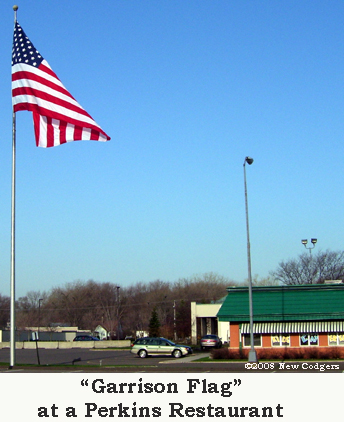 Garrison Flag at Perkins ©2008 New Codgers