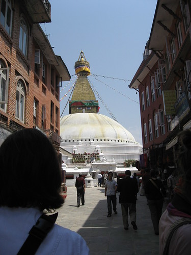 Entrance to Boudhnath Stupa