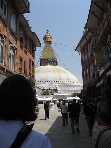 Entrance to Boudhnath Stupa