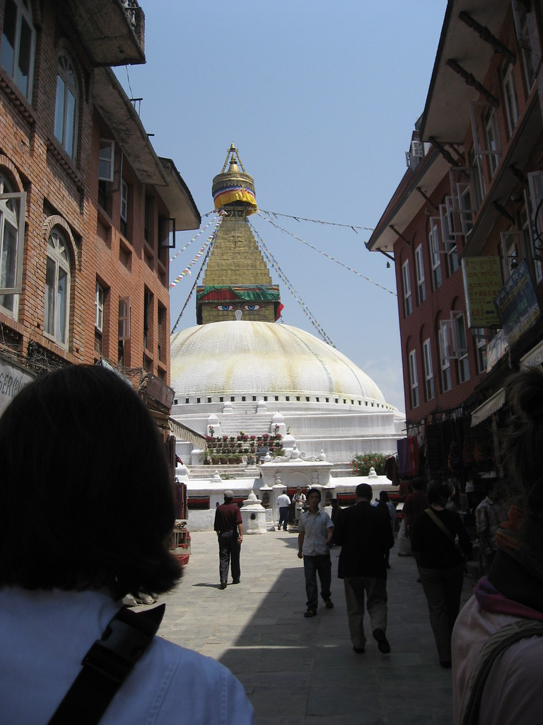 photo essay daily life at boudhanath stupa go backpacking the first view most people experience