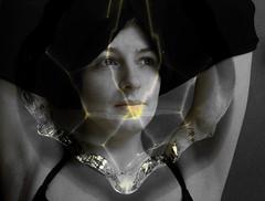 Awakening (h.koppdelaney) Tags: light woman reflection beauty poem crystal clarity diamond clear koan strip zen mind sight past recognition logos pullover ratio conscious dakini intellekt hourofthesoul