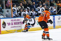 "Missouri Mavericks vs. Wichita Thunder, February 7, 2017, Silverstein Eye Centers Arena, Independence, Missouri.  Photo: John Howe / Howe Creative Photography • <a style=""font-size:0.8em;"" href=""http://www.flickr.com/photos/134016632@N02/31988716883/"" target=""_blank"">View on Flickr</a>"
