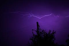 Two Electrical (gabrielmiyahara) Tags: lightning raio trovão purple sky dark electric electrical wires thunder shock