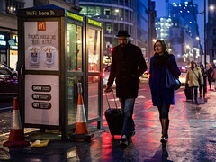 The many-coloured lights of London