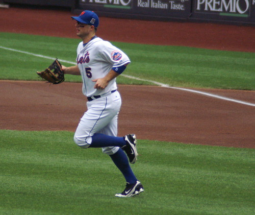 David Wright heads to third