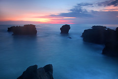 Almost to the blue hour (djsitaun) Tags: bali beach indonesia sand rocks wave mengeningbeach