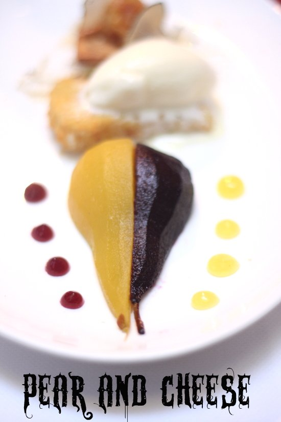 poached pears two ways