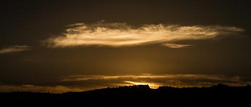 Sunset behind the ridge
