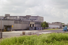 Humber Bank Industry (Alan Hilditch) Tags: uk blue england industry star britain north bank lincolnshire east humber fibres tencel humberside courtaulds