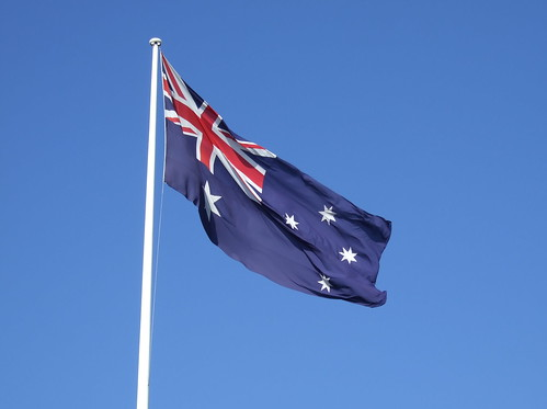 The flagpole in central Sydney's  Darling Harbour