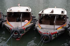 Bumboats (Kirk Siang) Tags: boat singapore business cbd boatquay rafflesplace centralbusinessdistrict singaporeriver