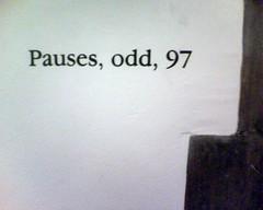 odd pauses