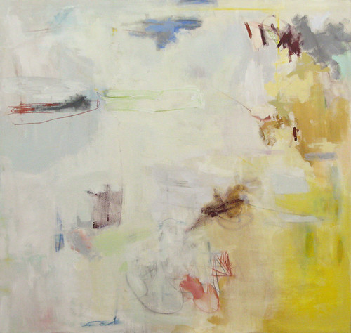 "Like a Bullet, 2007, Acrylic on canvas, 52""x50"" by elizabeth schuppe."