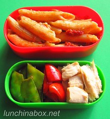 Pasta bento lunch for preschooler (Biggie*) Tags: food chicken lunch box pasta bento penne bellpepper packedlunch boxlunch bentobox snowpeas schoollunch biggie roastchicken brownbag lunchinabox redbellpepper sacklunch bentolunch bentoblog bentoboxlunch ssbiggie lunchinaboxnet costcoroastchicken twittermoms