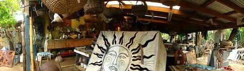 Work in progress at Aragorn's studio, Trellis Bay, The British Virgin Islands