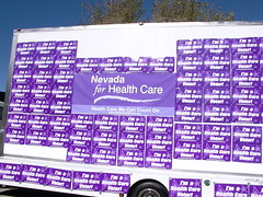 Nevada for Health Care Mobile Billboard (Nevada for Health Care) Tags: lasvegas nevada cnn campaign healthcare primary unlv voters democratic debate visibility caucus presidentialcandidates mobilebillboard nvforhealthcare nevadaforhealthcare