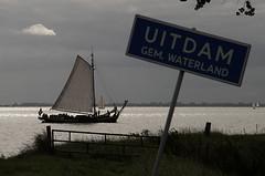 Sailing in (Edwinek) Tags: netherlands sign boat sailing ship uitdam
