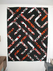 slashes quilt top