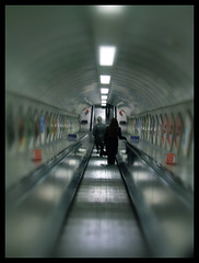 Down the Tubes... (Martin   H) Tags: people urban london station train transport perspective trainstation tubestation northernline 10faves 25faves abigfave goldenphotographer favemegroup3 betterthangood