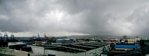 Las nubes a las 15.44h sobre Las Palmas de Gran Canaria