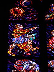 St Vitus Cathedral, Prague (Tjflex2) Tags: old trip travel windows light vacation holiday detail art history beautiful big amazing interesting ancient prague artistic great gothic royal churches praha stainedglass palace pražskýhrad czechrepublic government colourful ornate stories romanesque complex bohemian czechoslovakia rulers masterpiece medeival praguecastle slovak stvitus guinnessbookofrecords addministraion hradèany