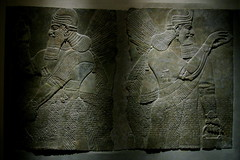 assyria relief - winged kings