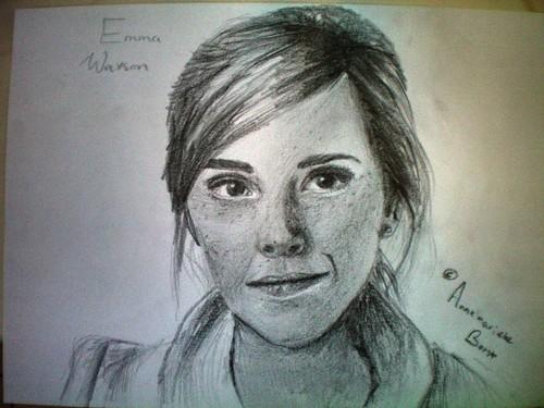 hand drawing of emma watson
