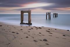 Abandoned Pier, Davenport, CA (Michael.Connor) Tags: ocean california longexposure sunset abandoned beach water coast pier pacific nd davenport minimalist hdr
