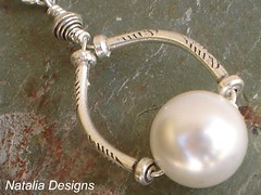 Handmade Sterling Silver Cultured Pearl  Necklace