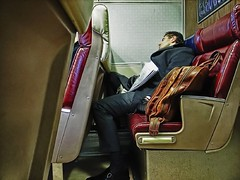 HOMEBOUND (joewig) Tags: street nyc urban man color train interestingness commute sleeper metronorth ricohgrd