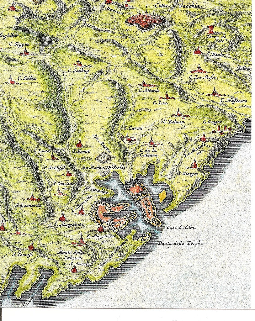 Detail from an old map - Malta