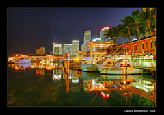 Bayside and Downtown at Night (Fraggle Red) Tags: night reflections palms downtown florida miami yachts fishingboats jpeg hdr movingwater blueribbonwinner photomatix baysidemarketplace nowind canonefs1785mmf456isusm 6exp mywinners abigfave anawesomeshot colorphotoaward superbmasterpiece theunforgettablepictures miamidadeco theperfectphotographer dphdr