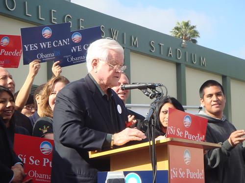 Senator Ted Kennedy in East Los Angeles.