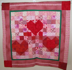 Third Sample Mosaic Hearts Quilt