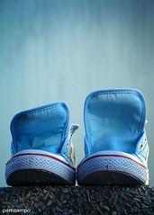 Wash and Wear (pamsampo) Tags: blue shoes sony chucks sonycybershot blueshoes rubbershoes sonyh7 pamsampo washandwear