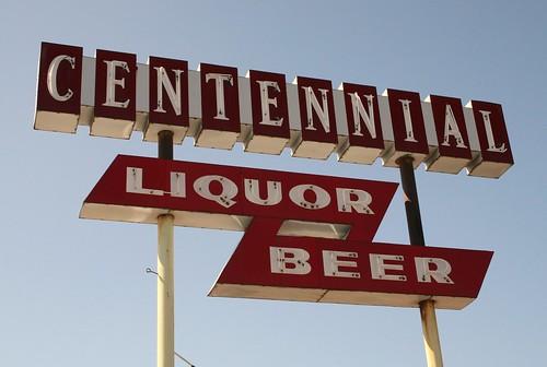 centennial liquor neon sign