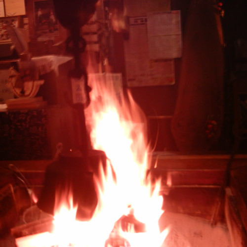 【写真】Fire in the fireplace [ Narai-juku / Nagano ]