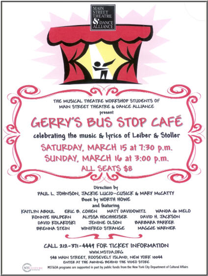 mstda - bus stop cafe flyer